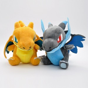 15cm Q Version of MAGE Blue Charizard Doll XY Evolution Plush Toys Original Gift For Children's Day