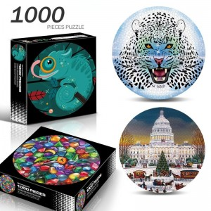1000 Pieces Puzzle of New Round Educational Cartoon Animal Intelligence Toys Children's Jigsaw Adult Toys