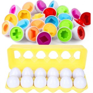 12pcs Montesori Baby Matching Eggs Toy Fruit Vegetable Matching Puzzles Game Kids Children Learning Shape Educational Toys