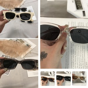 12Styles Fashion Cycling Glasses Women Rectangle Retro Sunglasses Points Glasses Lady Eyeglass Vintage Sunglasses Driver Goggles