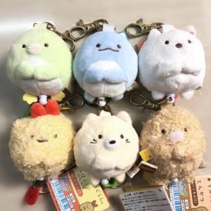 1 Pcs Cartoon Japan Corner Creature Biology Flexible Key Chains Sumikko Gurashi Animal Plush Toy Keychain Pendant Bag Toys Gift